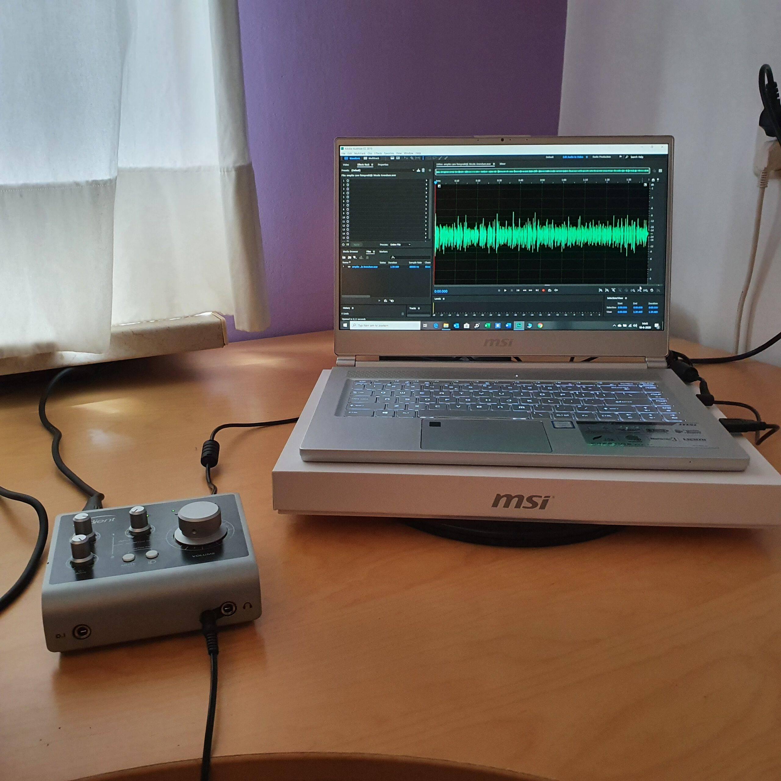 Audio interface en Laptop